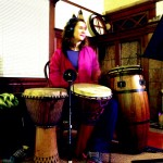 caroline penwarden on percussion