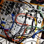 chuck johnson on homemade modular synthesizer